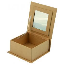 Папие маше - кутийка с огледалце