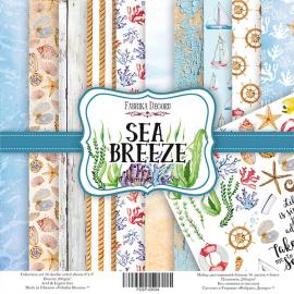 Дизайнерска хартия, блокче Sea breeze 8x8 инча